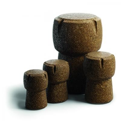 Arredamento in sughero riciclato: pouf, da Amorim Cork