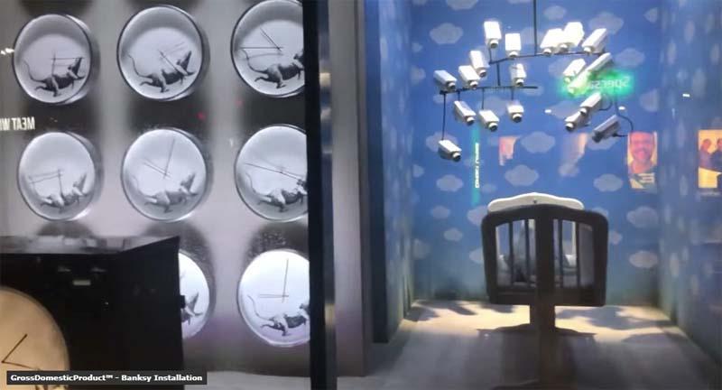Il negozio d'arredo di Banksy, dalla vetrina esterna