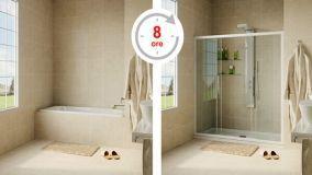 Rinnovare il bagno trasformando la vasca in doccia