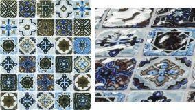 Mosaici ispirati alle cementine e piastrelle di maiolica