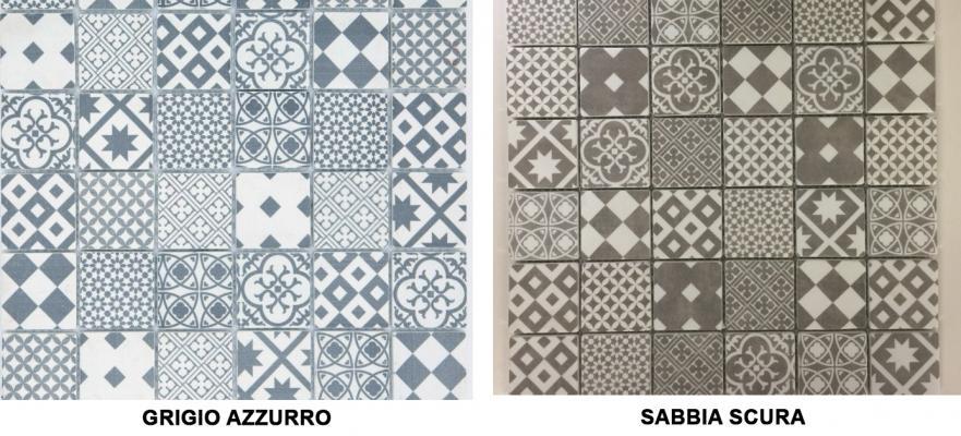 Mosaico Cementina in gres by Bertolani Pavimenti