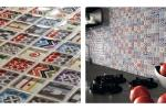 Mosaico ispirato alle cementine Challenger Fireworks di Boxer