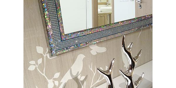 Rivestimento in plastica Multistyle Galaxy Silver 5x5 di Sibu Design