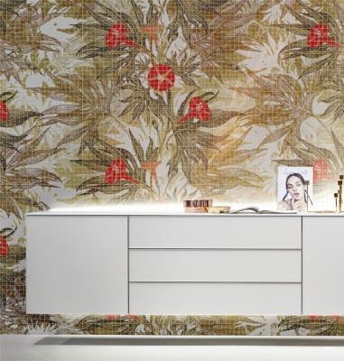 Mosaico di resina con motivi floreali by Gemanco Design