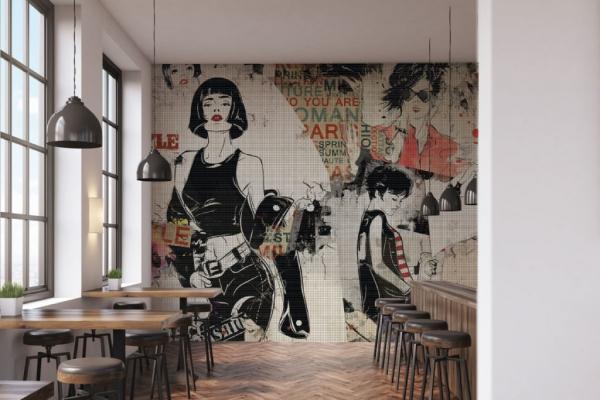 Mosaico di resina della linea Woman di Gemanco Design
