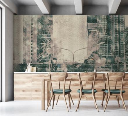Mosaico in resina con scena urbana di Gemanco Design