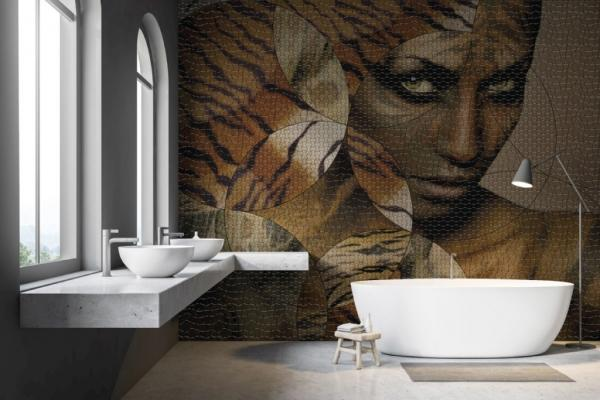 Mosaico in resina di ispirazione etnica di Gemanco Design