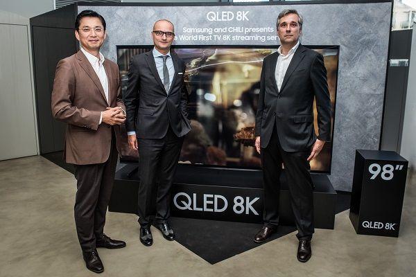 Pfresentazione servizio streaming 8K collaborazione di Samsung e Chili