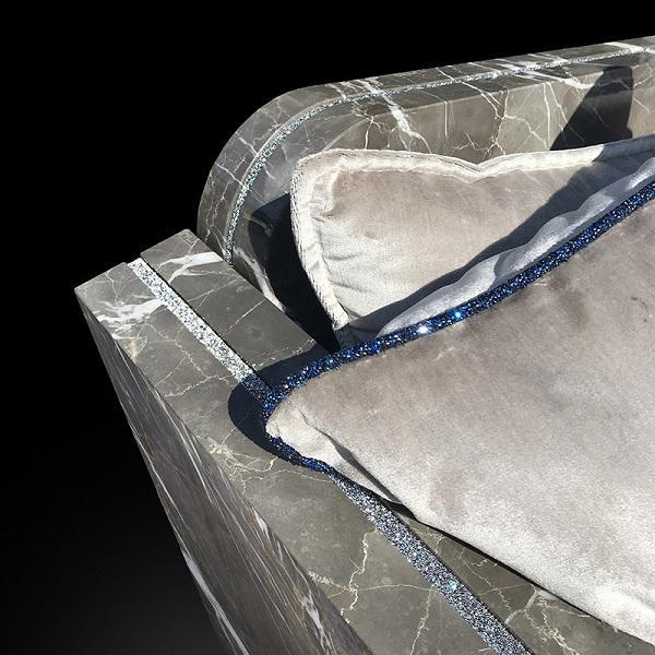 Particolare della poltrona in marmo Mattis Limited edition, Home Design by Franchi Umberto Marmi