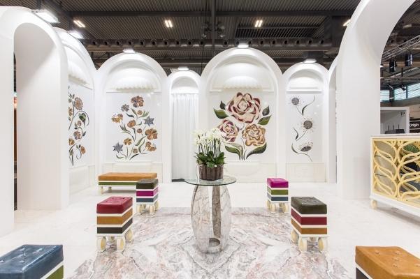 Il Giardino incantato, allestimento scenografico in marmo di Margraf