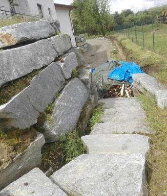 Muri contenimento in pietra - Beole e Marmi Pelganta Giorgio