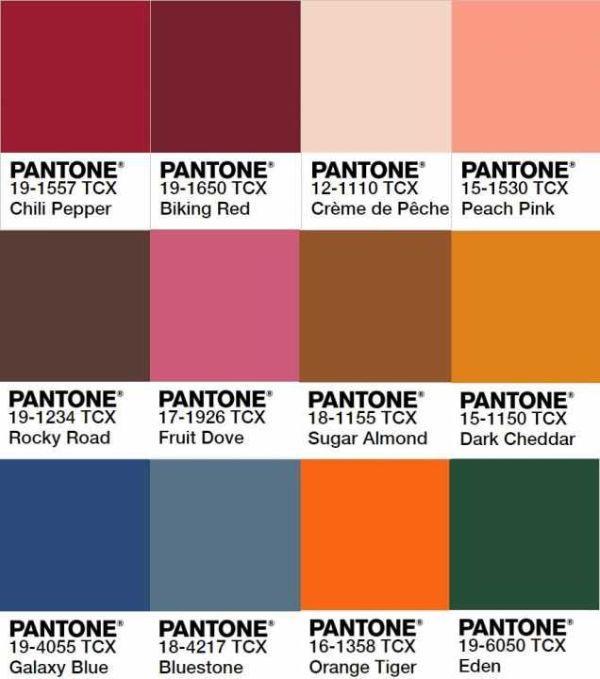 Palette colori Pantone Stagione Autunno-Inverno 2019-2020