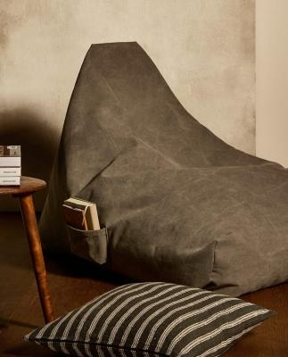Pouf in lino e cotone - Design e foto by Zara Home