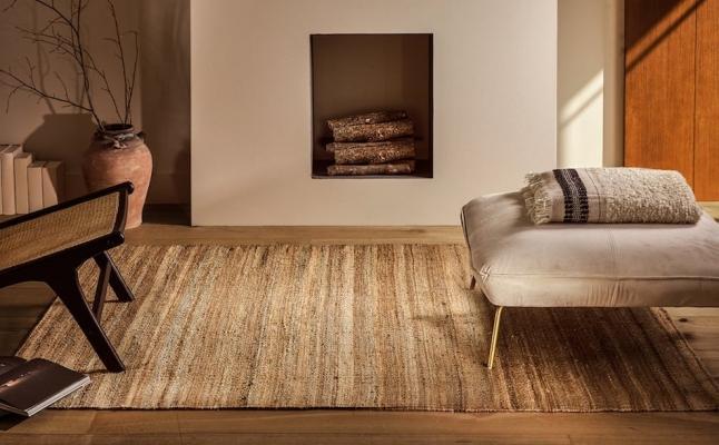 Tappeto in iuta rettangolare -Design e foto by Zara Home
