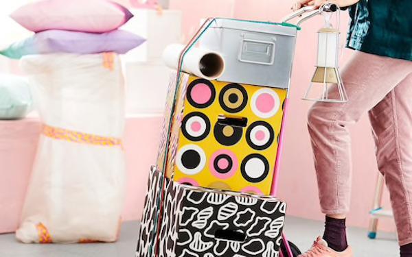Cartoni da imballaggio e scatole Ombyte - Design e foto by Ikea