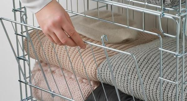 Cestelli impilabili Ombyte in acciaio galvanizzato - Design e foto by Ikea