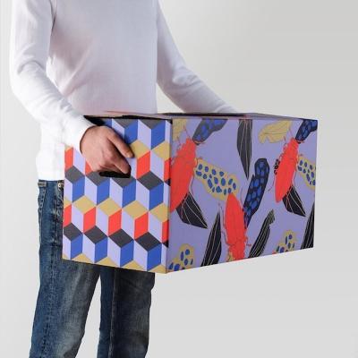 Cartone da imballaggio Ombyte: cubi e animali colorati , by Ikea