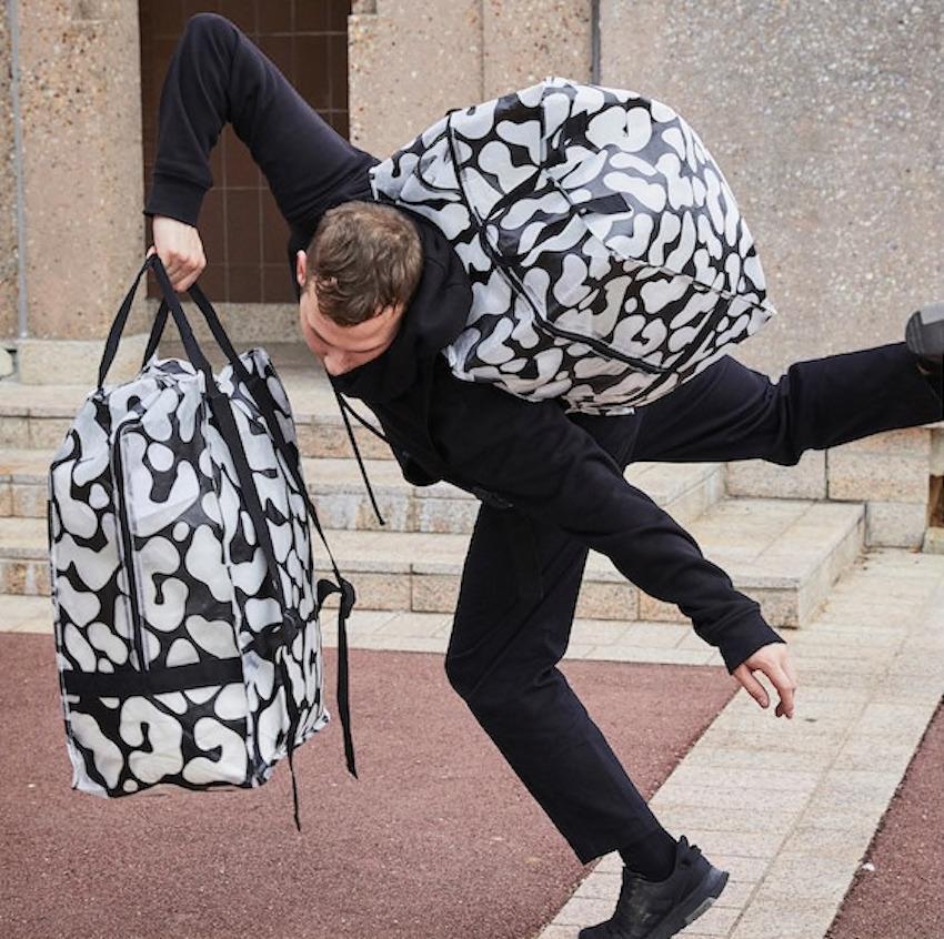 Buste per la spesa Ombyte bianche e nere - Design e foto by Ikea
