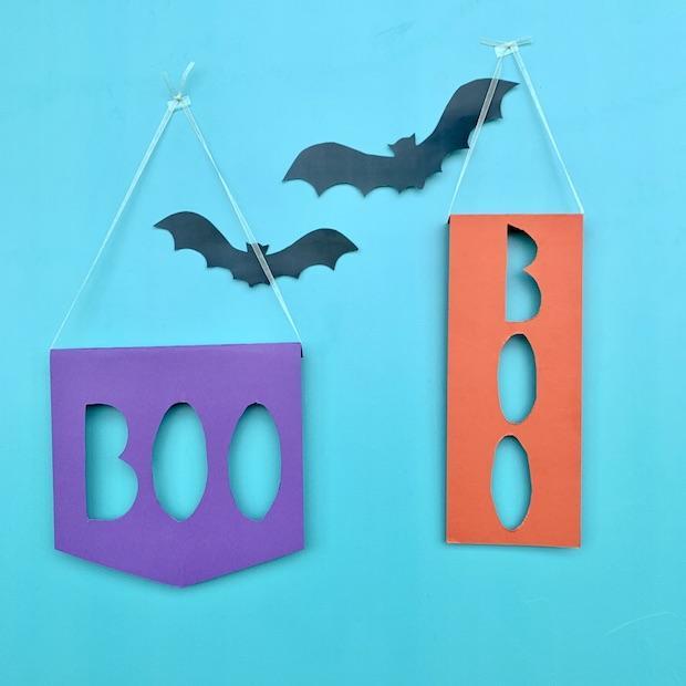 Addobbi Halloween: striscione boo, da Babysits