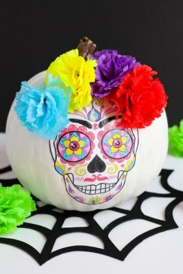 Addobbi Halloween: zucca macabra, da designimprovised.com