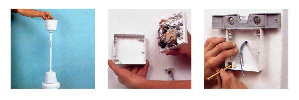 Sequenza installazione interruttore ventilatore