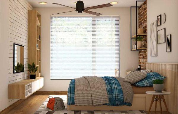 Ventilatore a soffitto in camera da letto