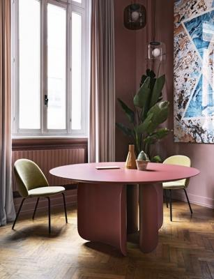 Tavolo Barry versione rotonda - Design Alain Gilles, foto by Miniforms