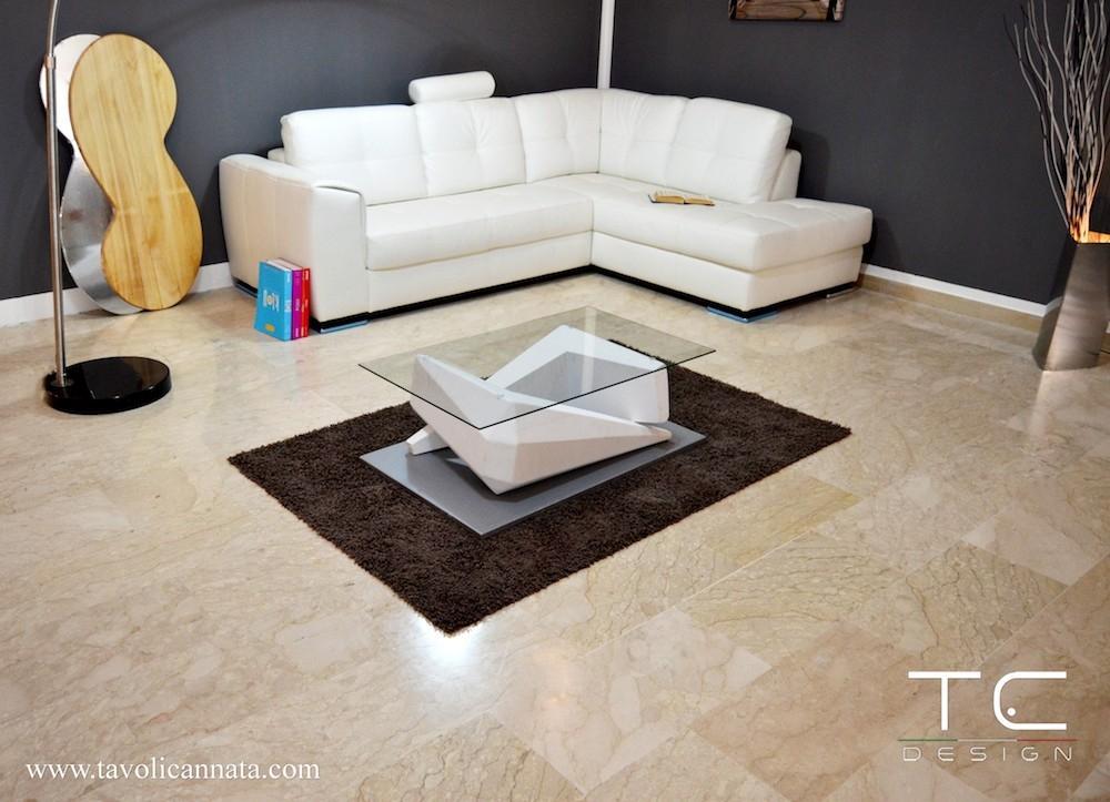 Tavolino Silver per sala cinema privata - Design e foto by TC Design