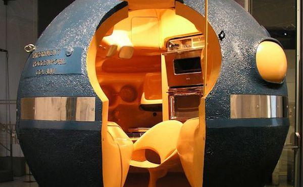 Cucina sferica satellite - Design, Luigi Colani