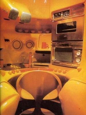 Cucina satellite, modulo sferico - Design by Luigi Colani