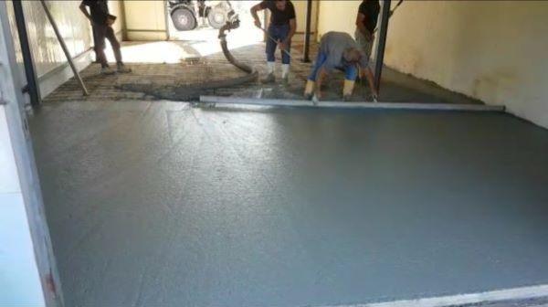 Pavimento in cemento industriale - Foto Arch. Diana Tomasich