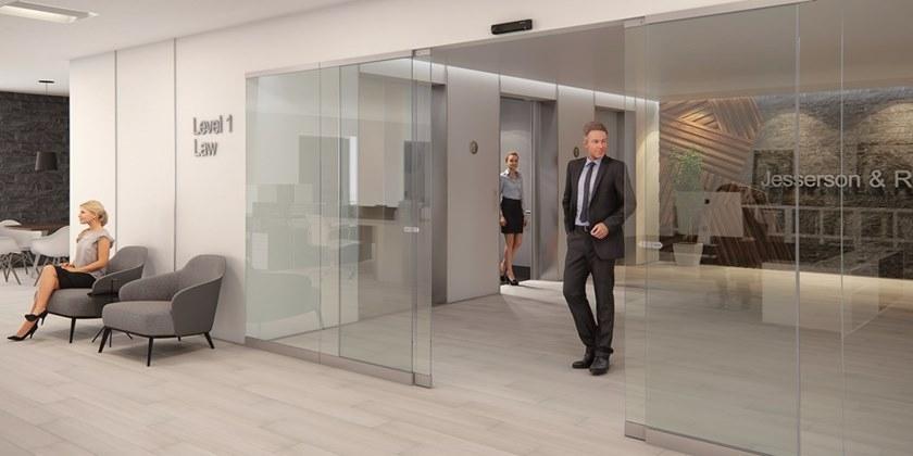 Porte scorrevoli automatiche a vetro possono rendere più bello un ingresso