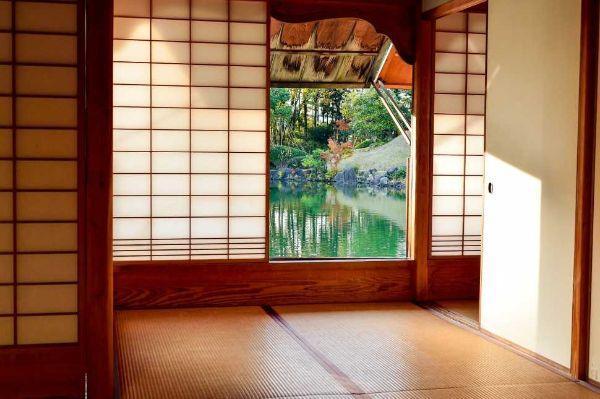 Pavimento tatami in una stanza giapponese