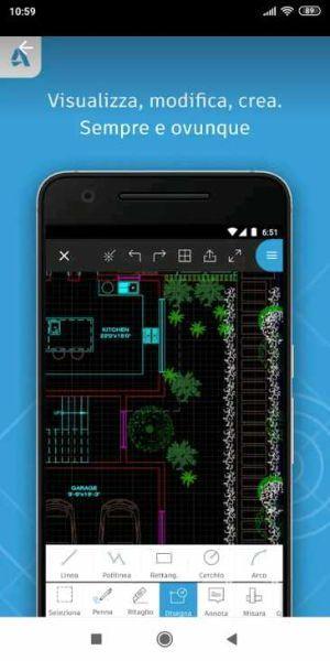 Autocad per smartphone e tablets