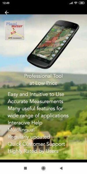 Planimetro, App per rilievo terreni