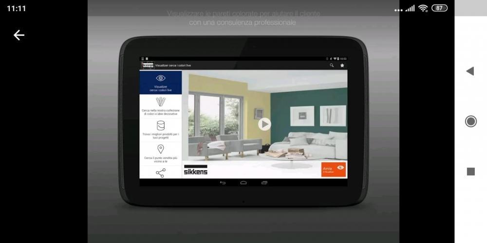 Alcuni produttori forniscono App per simulare l'impiego di un prodotto