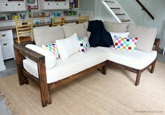 Riciclo creativo reti e materassi: divano angolare, da jaimecostiglio.com