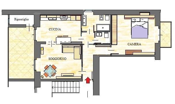 Progetto ristrutturazione casa 45 mq
