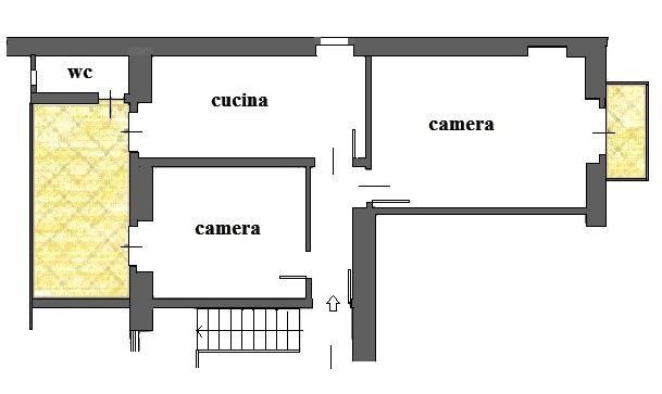 Ristrutturare casa 45 mq: pianta prima