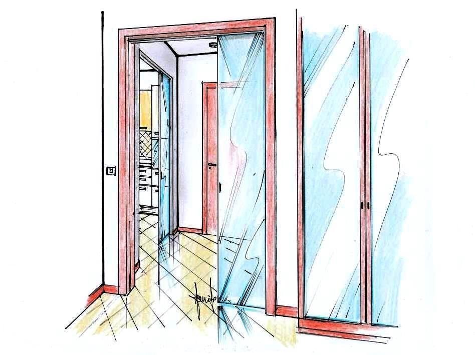 Ristrutturazione casa 45 mq: porte scorrevoli tra gli ambienti