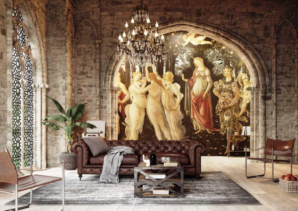 Primavera di Botticelli, Carta da parati, Tecnografica