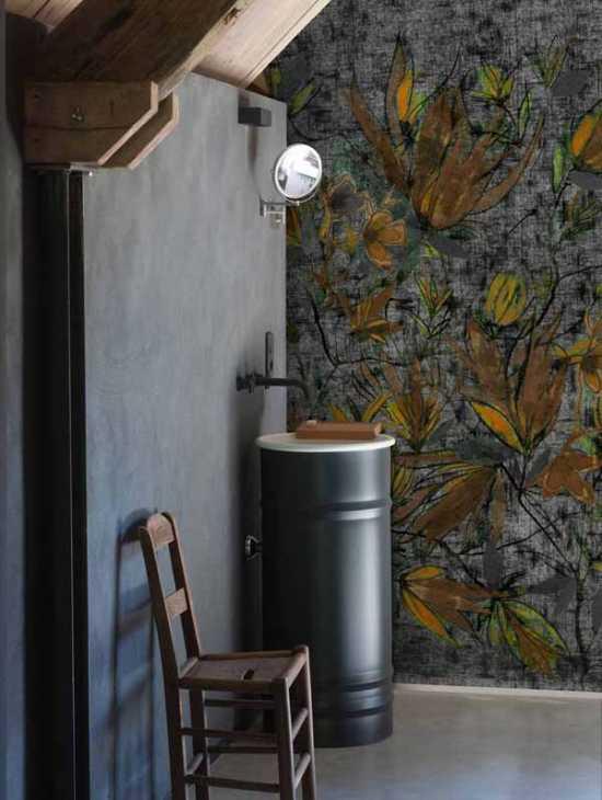 Wall&Deco', carta da parati Safran