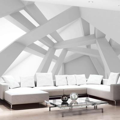 Carta da parati 3d White Construction, by Ilydecor