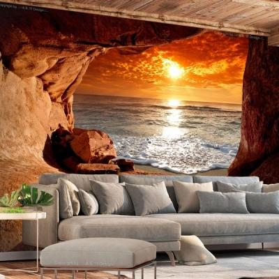 Carta da parati 3d: Exit from the Cave, by IlyDecor