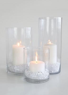 Centrotavola fai da te con candele glamour, da afloral.com