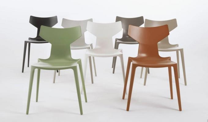 Bioplastica: sedia di design, da Kartell