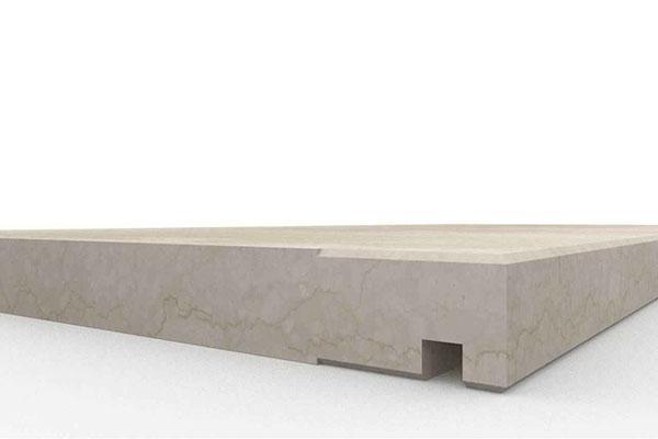 Davanzale con gocciolatoio in marmo Botticino - Marmo Granito