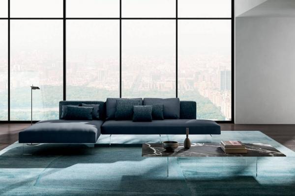 Divano sospeso Air con chaise longue - Design e foto by Lago