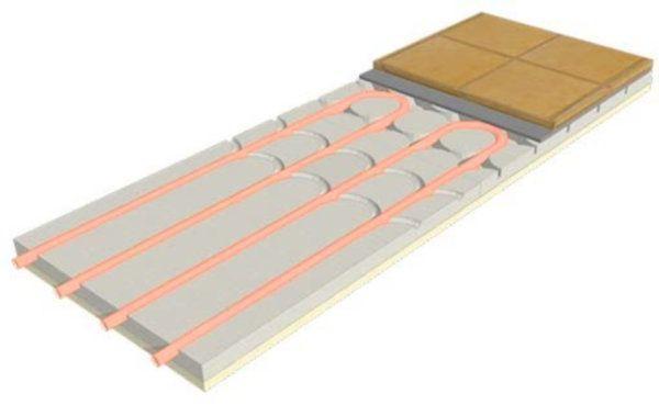 Pannello radiante ribassato ECOfloor slim prodotto da Rossato Group