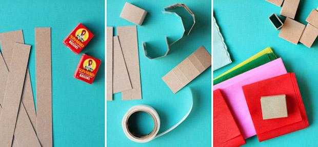 Decorazioni natalizie con la carta: ghirlanda di regali, parte 1, da ohhappyday.com